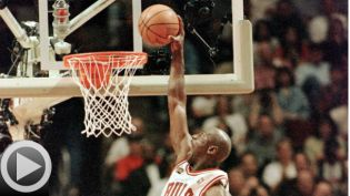 Michael Jordan dunk video