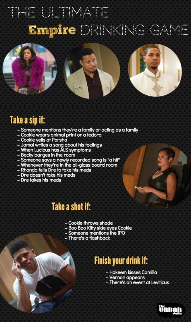 empire tv show drinking game the urban daily. Black Bedroom Furniture Sets. Home Design Ideas