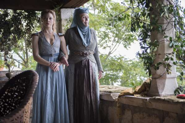 Natalie Dormer Diana Rigg - Margaery Tyrell and Olenna Tyrell