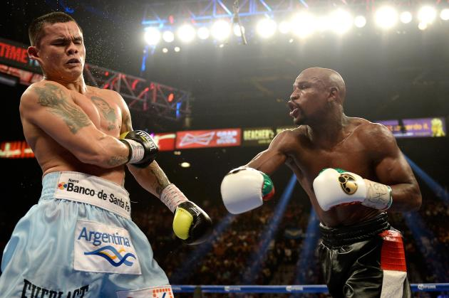 Floyd Mayweather Jr. defeated Marcos Maidana.