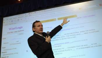 Wikileaks Founder Julian Assange Holds Press Conference