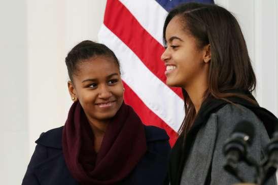 Sasha & Malia Smiling