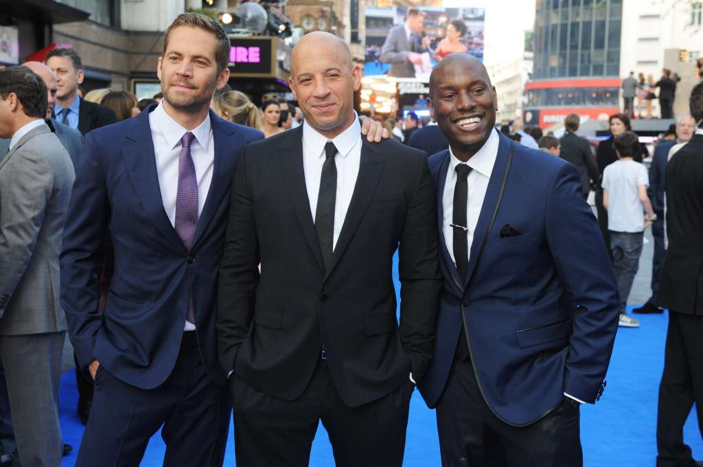 Paul Walker, Vin Diesel and Tyrese Gibson attend the world premiere of 'Fast And Furious 6'