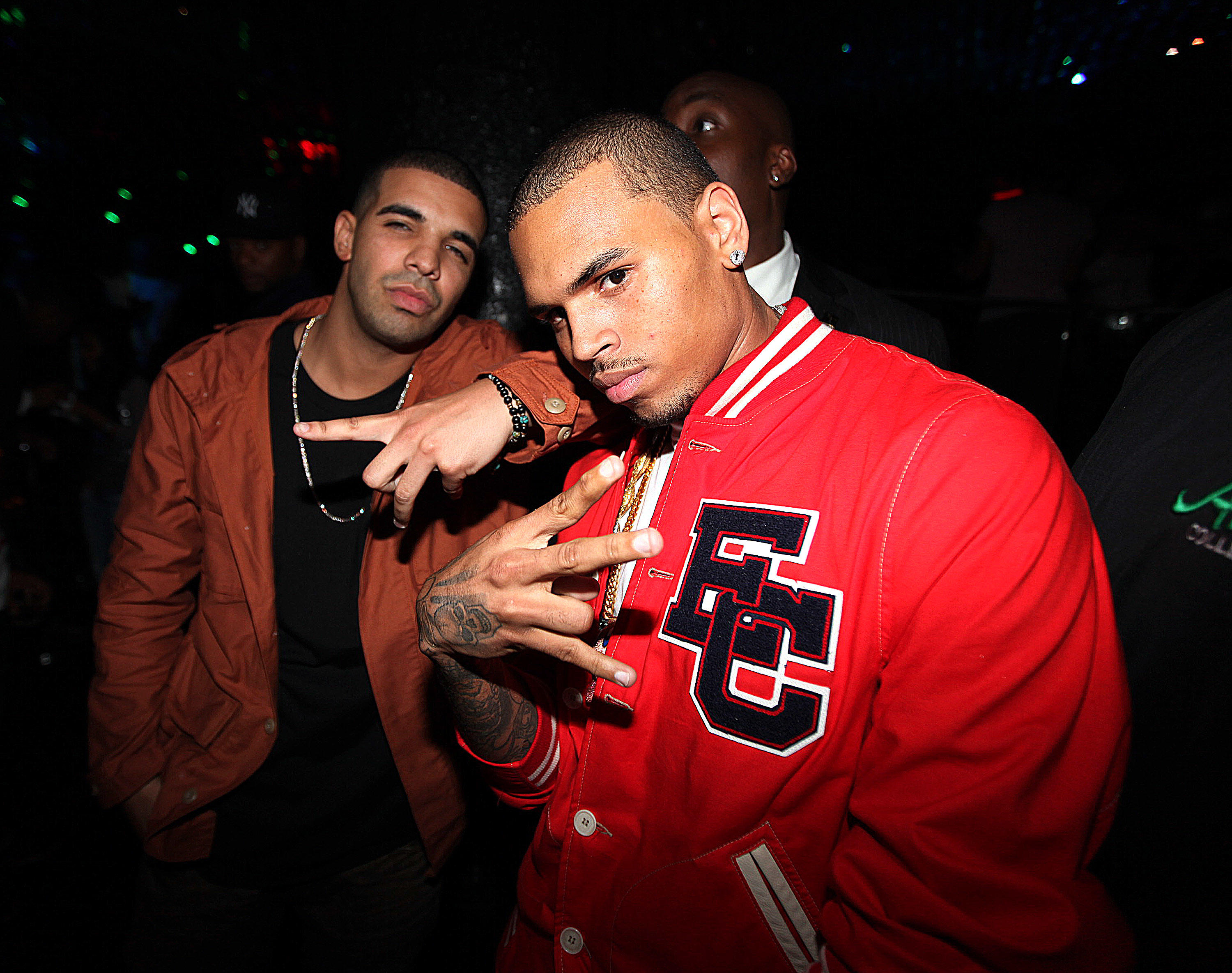 Drake and Chris Brown at Greenhouse in NYC