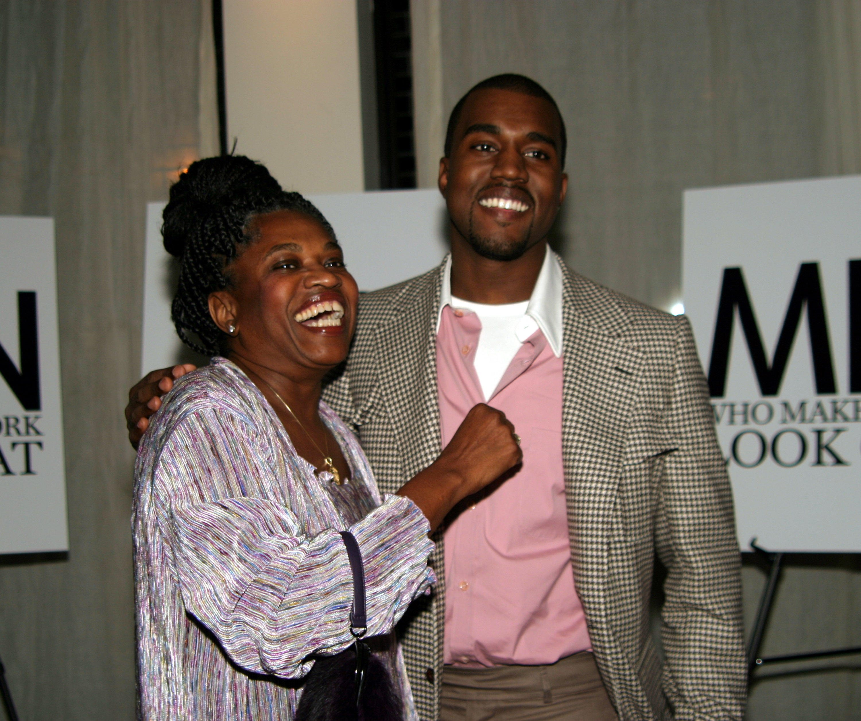Kanye West and mother Donda West at GQ Magazine Celebrates BVLGARI's New Ergon Watch