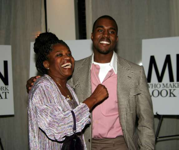 Kanye West and mother Donda West at GQ Magazine Celebrates BVLGARI's New Ergon Watch