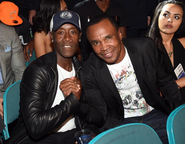 Don Cheadle and Sugar Ray Leonard