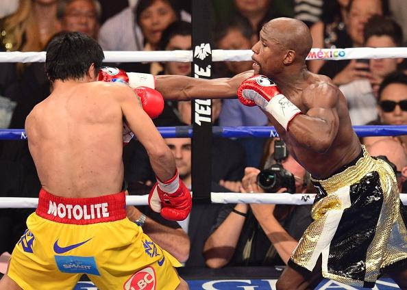 Floyd Mayweather Jr. dominated Manny Pacquiao in their title fight.
