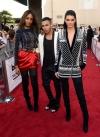 Kendal Jenner with Jourdan Dunn & Olivier Rousteing