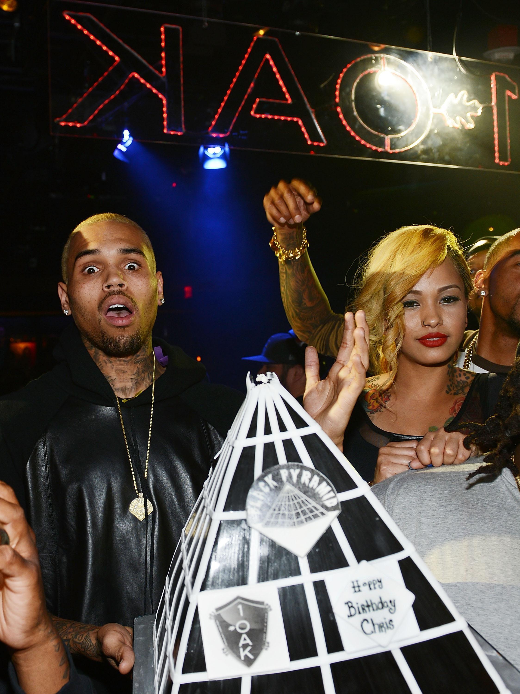 Chris Brown Celebrates His Birthday At 1 OAK Nightclub At The Mirage