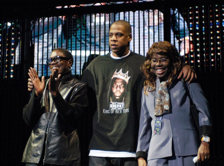 Jay Z With Afeni Shakur & Voletta Wallace