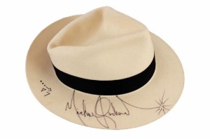 Michael Jackson signed Smooth Criminal hat