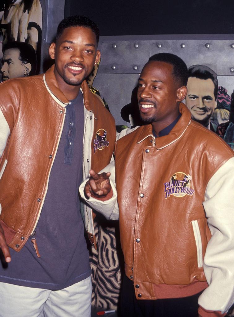 Will Smith and Martin Lawrence Present Memoriabilias from their Movie 'Bad Boys' to Planet Hollywood