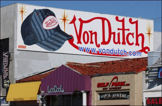 Christian Audigier, Stylist of 'Von Dutch' shop on Melrose Avenue in Los Angeles, United States in February, 2004.