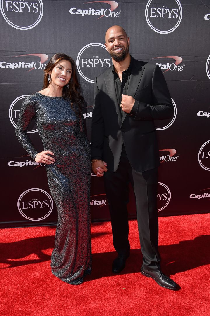 Hope Solo and NFL player Jerramy Stevens