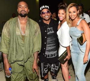 Kanye West and CyHi The Prynce Birthday Bash