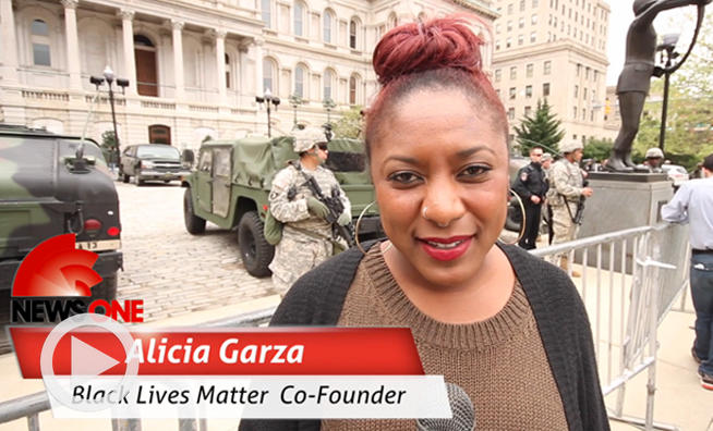 alicia garza, Baltimore coverage