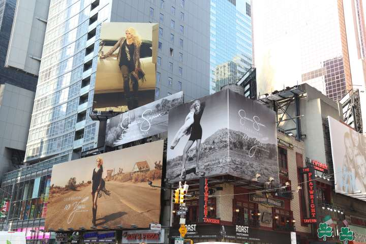 Times Square Celebrates Jessica Simpson's Business Brand 10 Year Anniversary