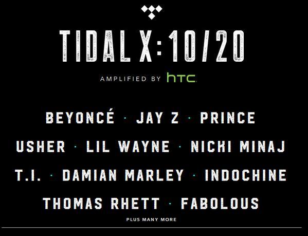 Tidal X Concert