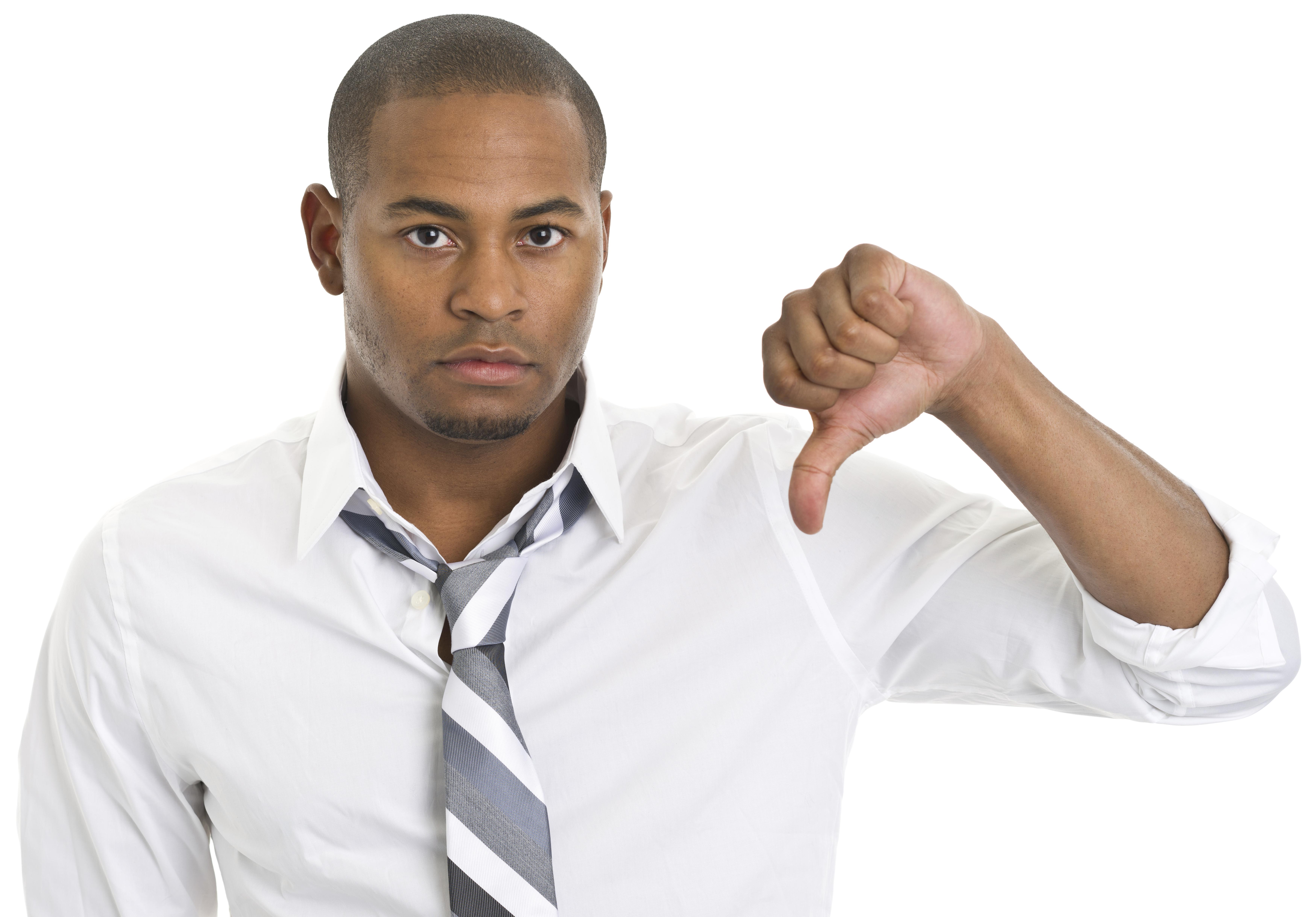 Young Man Gives Thumbs Down