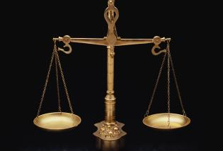 These are the golden scales of justice