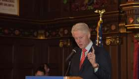 Former president Bill Clinton campaigned in New York City on...