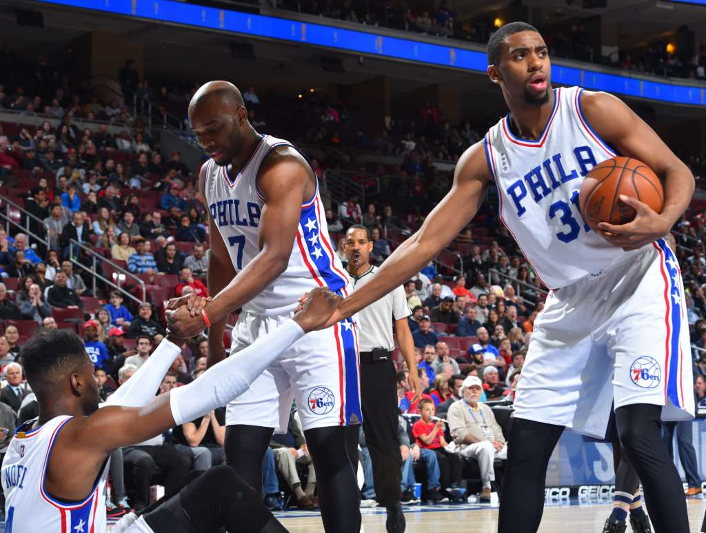 b31fed38ab8e Philadelphia 76ers V New Orleans Pelicans. Remember Twitter s hilarious  reactions to the prospect of putting advertisements on NBA jerseys