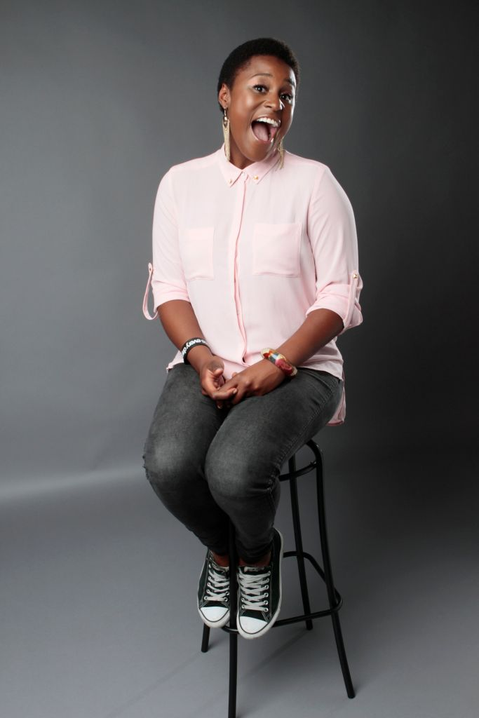 LOS ANGELES, CA. – OCTOBER 9, 2012: Issa Rae poses for a portrait in the Los Angeles Times studio on
