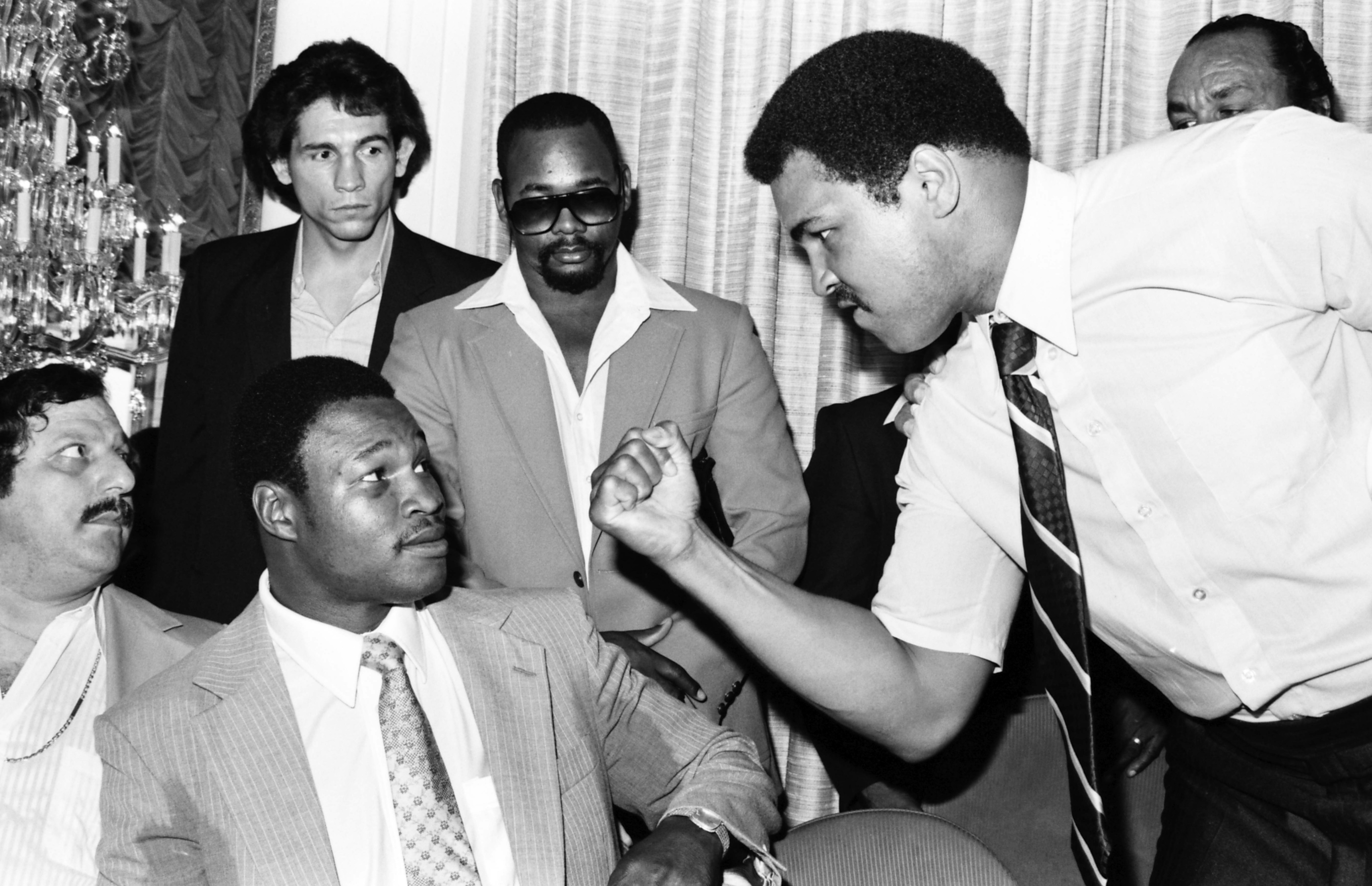 Larry Holmes and Muhammad Ali Press Conference