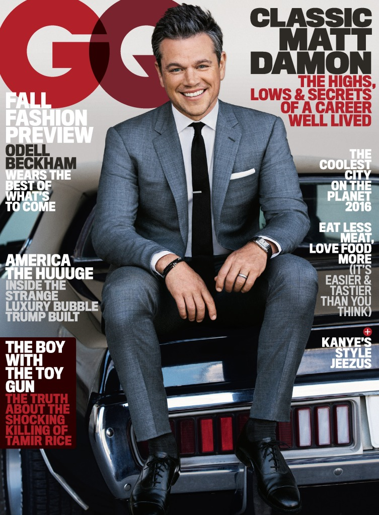 Matt Damon GQ Cover