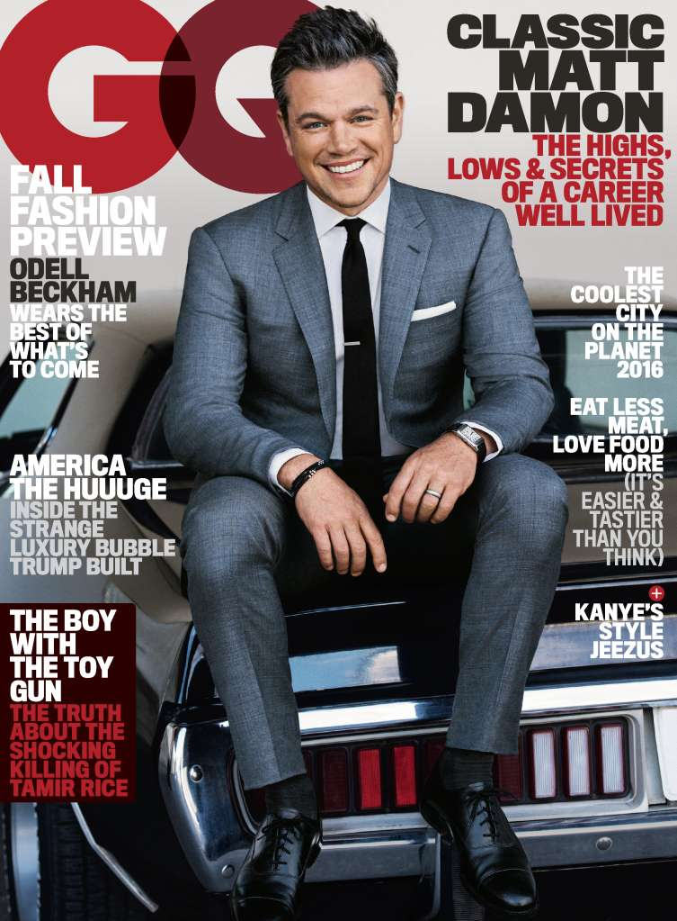Matt Damon GQ Cover
