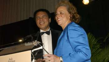 Muhammad Ali and Yolanda Ali attend the 2004 Kahlil Gibran...