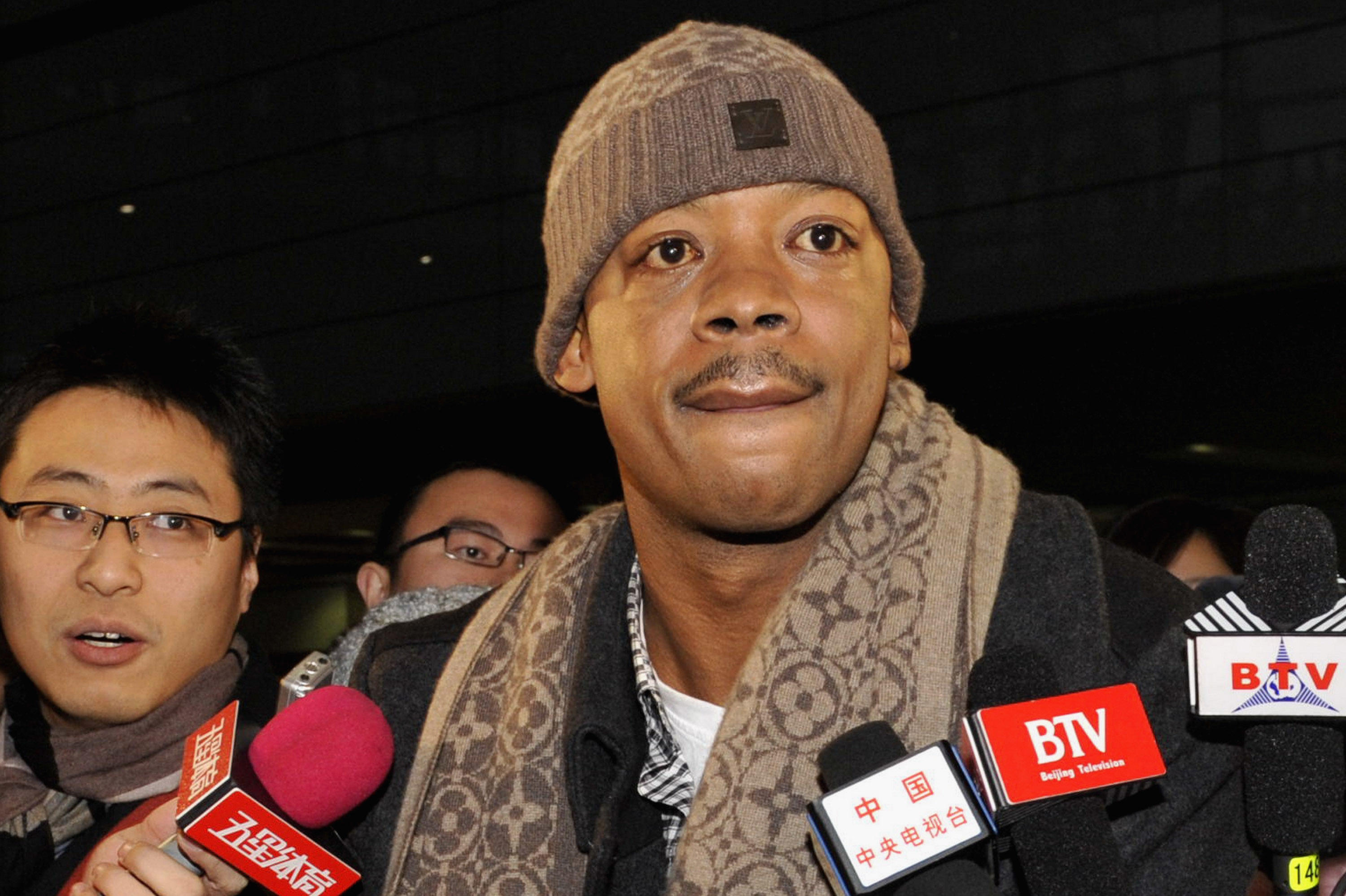 Former NBA Player Steve Francis Arrives In Beijing