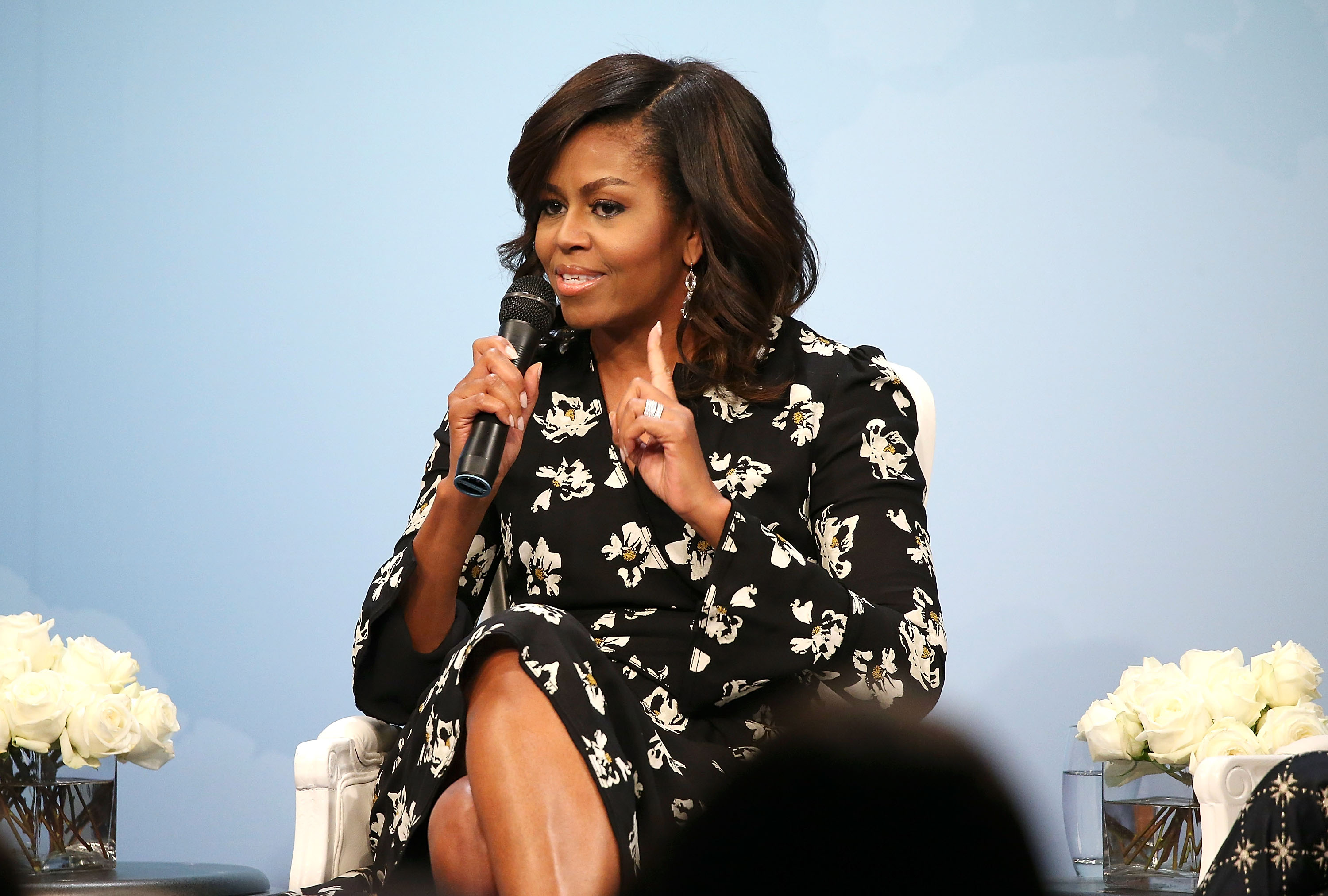 Glamour Hosts 'A Brighter Future: A Global Conversation on Girls' Education' With First Lady Michelle Obama