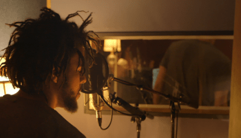 J. Cole in the studio
