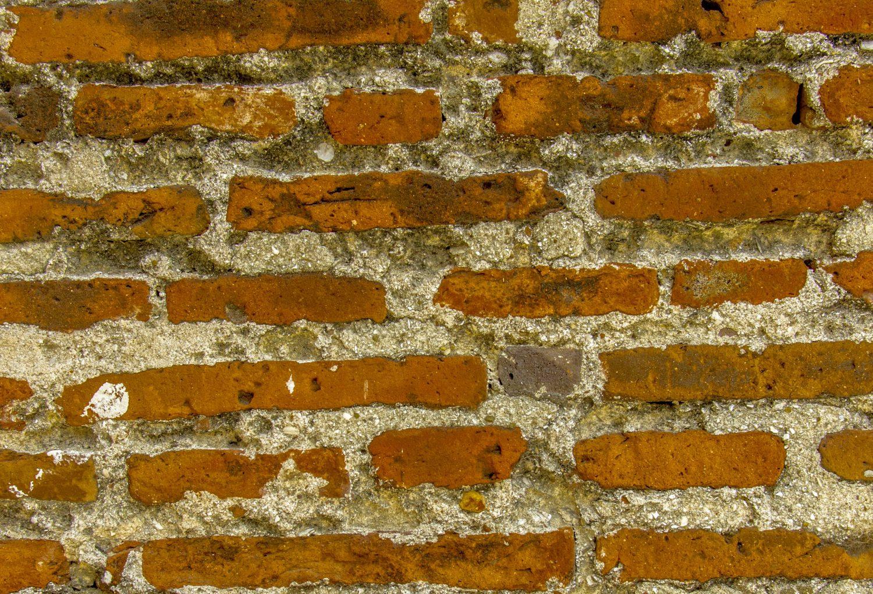 Old brick wall, Panama Viejo, Panama City, Panama